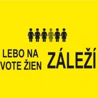 Čierny odkaz Istanbulský dohovor lebo na živote žien záleží na žltom podklade doplnený o šesť postáv žien a logo organizácie Možnosti voľby