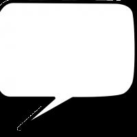 Bublina rozhovoru bez popisky s čiernym orámovaním
