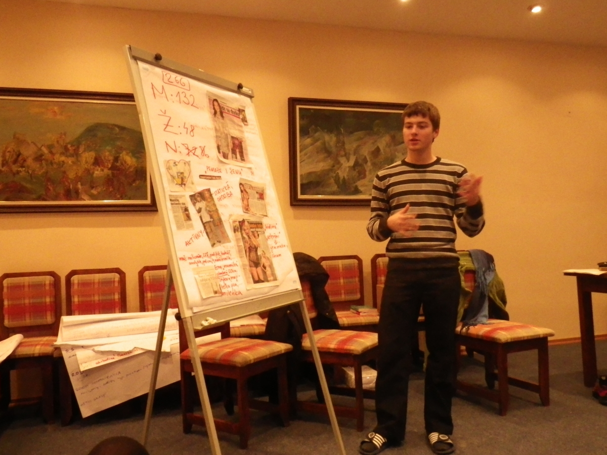 """Rodový tréning """"Rodová rovnosť"""" pre začínajúcich a potenciálnych aktivistov a aktivistky, 2011"""